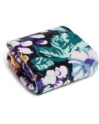 Vera Bradley Fleece Plush Throw Blanket - Blue