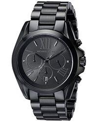 Michael Kors - Bradshaw Blacktone Chronograph Watch - Lyst
