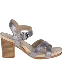 Hush Puppies Mariska Buckle Qtr Heeled Sandal - Gray