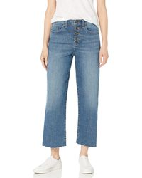 Daily Ritual Relaxed Fit Wide-leg Crop - Blue