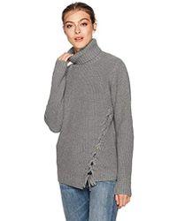 efa6f9a3f9059 MINKPINK - Secret Maze Lace Up Turtleneck Oversized Sweater - Lyst