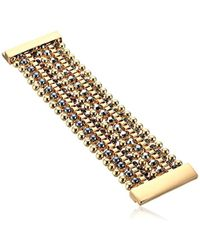 Kenneth Cole - Bond And Burgundy Mixed Faceted Stone Multi Row Bracelet - Lyst