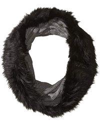 Armani Exchange | Chunky Wool Tube Scrf With Fux Fur Trim - Gray