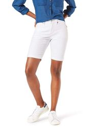 Signature by Levi Strauss & Co. Gold Label Mid-rise Bermuda Shorts - White