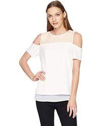 Calvin Klein Short Sleeve Cold Shoulder - White