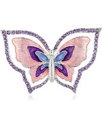 Napier Boxed Butterfly Pin - Metallic
