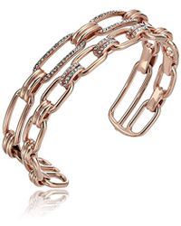 Michael Kors - S Iconic Link Pave Open Double Cuff Bracelet - Lyst