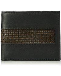 Tommy Bahama Leather Slimfold-black, One Size
