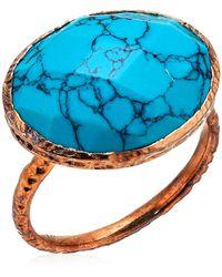 Argento Vivo Howlite Turquoise Ring - Blue