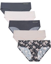 Vince Camuto No Show Seamless Hipster Panty Underwear Multi-pack - Black