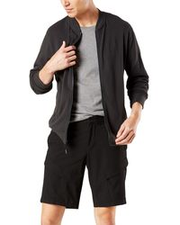 Dockers Long Sleeve Full Zip Sweater - Black