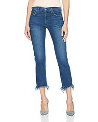 James Jeans - Sneaker Straight High Rise Ankle Length Victory Fray - Lyst