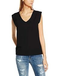 French Connection - Polly Plains Cap-sleeve V-neck Top - Lyst
