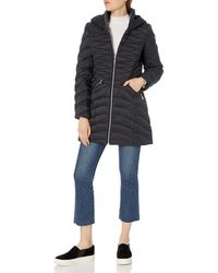 Laundry by Shelli Segal Lightweight Curve Quilted Puffer Jacket - Black