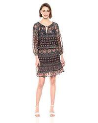 Velvet By Graham & Spencer Beth Monaco Print Dress - Multicolor