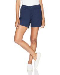 """Amazon Essentials 5"""" Pantaloncini Chino con Cucitura Interna - Blu"""