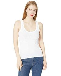 Enza Costa - Military Rib Bold Tank Top - Lyst