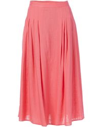 Finders Keepers High Rise Sally Full Midi Skirt - Pink