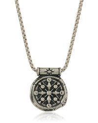 ALEX AND ANI Compass 32-inch Pendant Necklace - Metallic