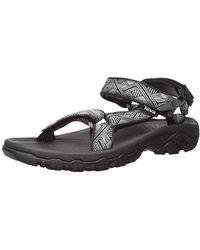 Teva M Hurricane 4 Sport Sandal, Geometric Black, 9 M Us