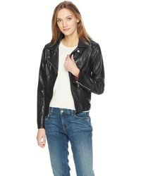 Tommy Hilfiger Faux Leather Classic Moto Jacket - Black