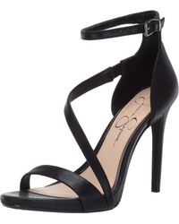 Jessica Simpson Rayli Sandals Black Shimmer Sand 10 M Us