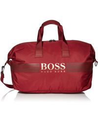 BOSS by Hugo Boss Boss Pixel Nylon Weekender Bag - Red