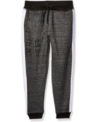 DKNY Boys Big Fleece Jog Pant with Diamond Quilt Detail
