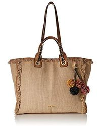 Nine West - Trixie Tote With Pouch Natural - Lyst