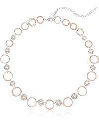 Napier - Twotone Circle Collar Necklace - Lyst