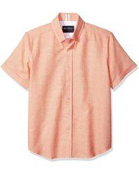 Robert Graham Liam Short Sleeve Slim Fit Shirt - Orange