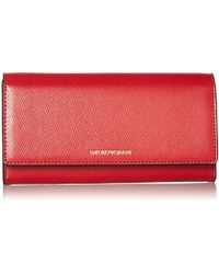 Emporio Armani - Large Wallet With Flap Closure - Lyst