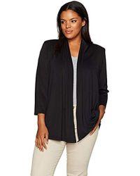 Kasper - Plus Size 3/4 Sleeve Cardigan With Back Waist Detail - Lyst