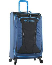 Columbia Lightweight Expandable Spinner Luggage Suitcase For Check In - Blue