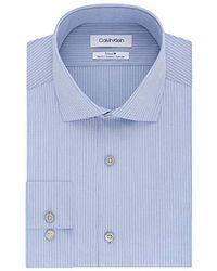 Calvin Klein - Dress Shirt Non Iron Slim Fit Stretch Stripe - Lyst