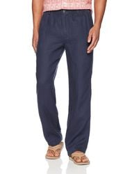 28 Palms Relaxed-fit Linen Pant With - Blue