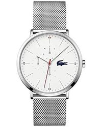 Lacoste Quartz Watch With Stainless Steel Strap, Silver, 20 (model: 2011025) - Metallic