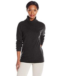 Dockers Novelty-stitch Turtleneck Sweater - Black
