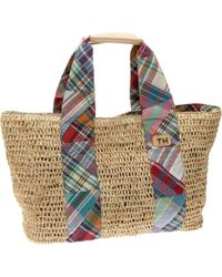Tommy Hilfiger Lily Large Tote,straw, - Multicolor