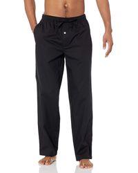 Amazon Essentials Straight-fit Woven Pajama Pant - Black