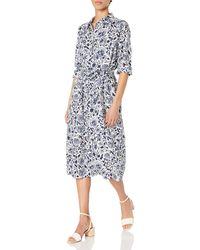 Lucky Brand Long Sleeve Tricia Western Dress - Blue