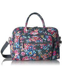 Vera Bradley Iconic Weekender Travel Bag, Signature Cotton - Blue