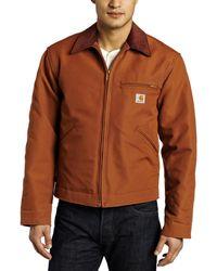 Carhartt Weathered Duck Detroit Jacket - Brown
