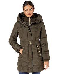Kensie Down Coat With Hood - Green