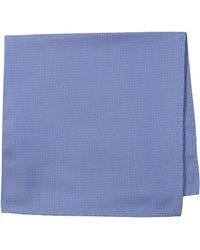 Ben Sherman Core 100% Silk Pocket Square - Blue
