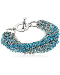 Kenneth Cole - Multi Chain Bracelet, Aqua, One Size - Lyst