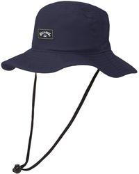 Billabong Big John Safari Sun Protection Hat With Chin Strap - Blue