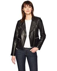 Marc New York - Ginny Faux-leather Moto Jacket - Lyst