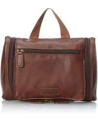 Perry Ellis Hanging Travel Kit - Brown