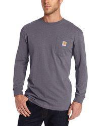 Carhartt Big K126 Workwear Jersey Pocket Long-sleeve Shirt - Multicolor